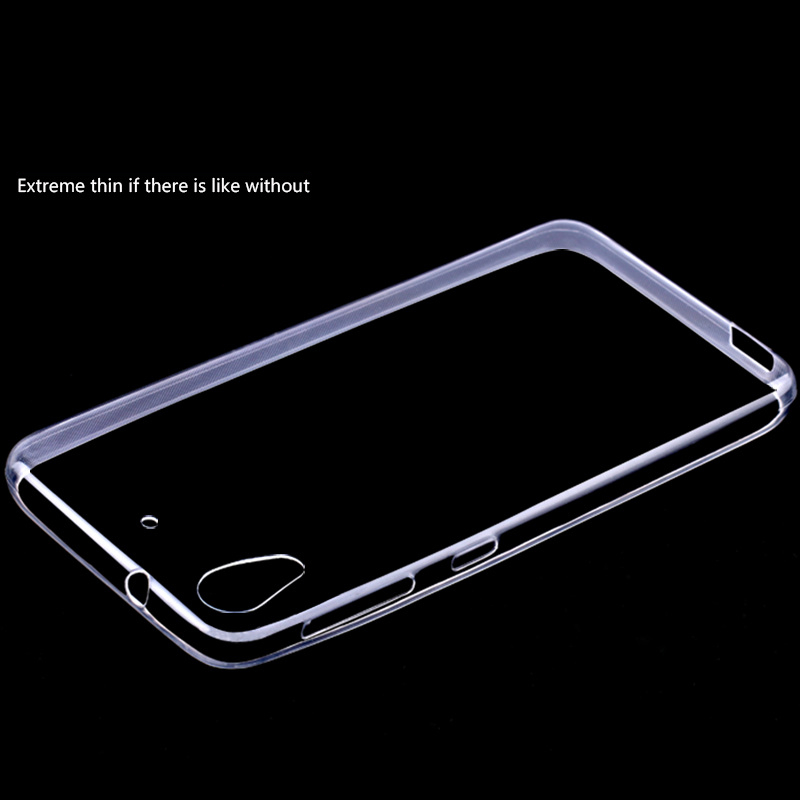 Ultra Thin Transparent Clear TPU Case For HTC Desire one 626 Crystal Back Cover Silicone Gel