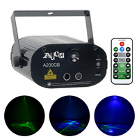AUCD Mini Remote GB Laser Lights Blue LED Lamp Water Wave Aurora Mix Projector Effect Disco DJ Party Show Stage Lighting SLA200