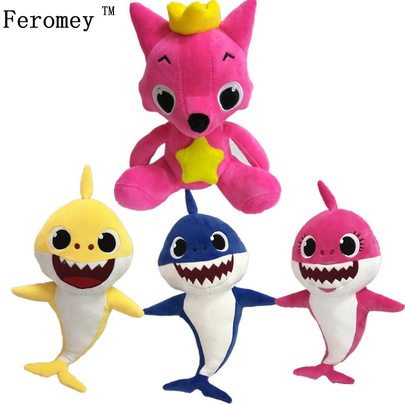 где купить Kawaii PinkFong Plush Doll Toys Fox Baby Sharks Stuffed Dolls Cartoon Stuffed Animal Doll Children Kids Toys Birthday Gifts по лучшей цене