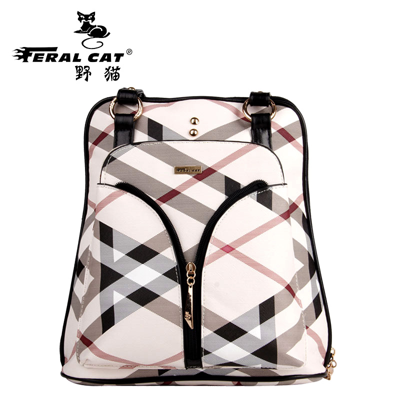 Ladies backpack women famous brands bags Fashion classic striped backpack Large capacity