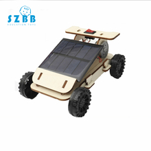 SZ STEAM Solar Toys For Kids Mini Powered Toy DIY Wooden Car Kit Children Gadget Hobby Science Educational