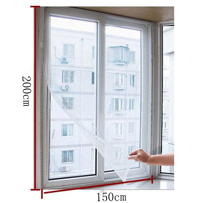 1 pcs Window Screens 1.5*2 M White Color Nylon Window Door Net Mesh Screen DIY Flyscreen Insect Fly Mosquito Sheer Curtains-in Door \u0026 Window Screens from ...
