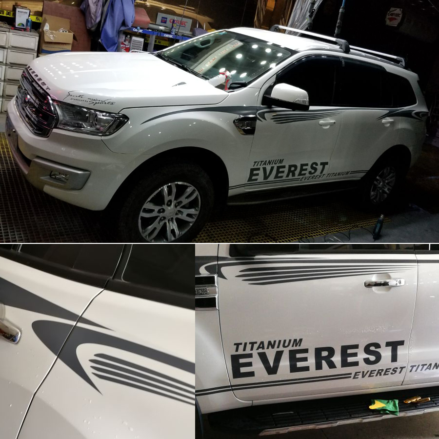 free shipping cool styling door body side stripe graphic vinyl car sticker for ford everes 2015 2016 SUV accessories 58cm x 25 38cm 2 x ice hockey player sports graphic one for each side car sticker for truck door side vinyl decal 8 colors