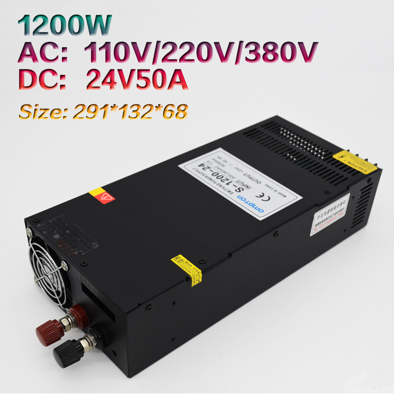 Switching Power Supply 24V50A Monitoring Industrial Single Group Output Switching Power Supply 1200W S-1200-24Switching Power Supply 24V50A Monitoring Industrial Single Group Output Switching Power Supply 1200W S-1200-24