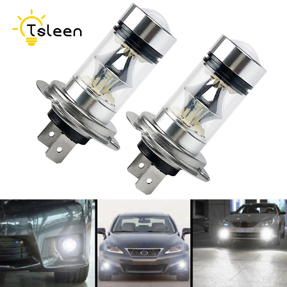 1 Pair Sale White Cree Car LED Lamp H3 H4 H7 H11 HB3 Driving Car Fog Bulb Headlight High Power DRL Driving Car Head Tail Light brand new 2pcs h7 100w led 20 smd projector fog tail driving car headlight lamp drl bulb
