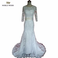 NOBLE WEISS vestido de Noiva Mermaid Lace Wedding Dresses Appliques Wedding Gowns Court Train Robe de Mariage Brautkleid
