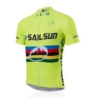 BUỒM Đàn Ông MẶT TRỜI Pro Bike Xe Đạp Jersey Ánh Sáng Hàng Đầu Màu Xanh Lá Cây Quần Áo xe đạp Đội mtb Mùa Hè Nam Bike Shirts Áo Nhanh khô
