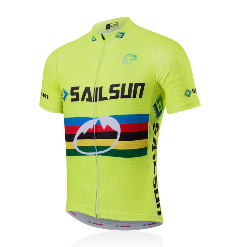 31356ff79 SAIL SUN Men Pro Bike Cycling Jersey Top Light Green Bicycle Clothing Team  mtb Summer Male Bike Shirts Jacket Quick Dry-in Cycling Jerseys from Sports  ...