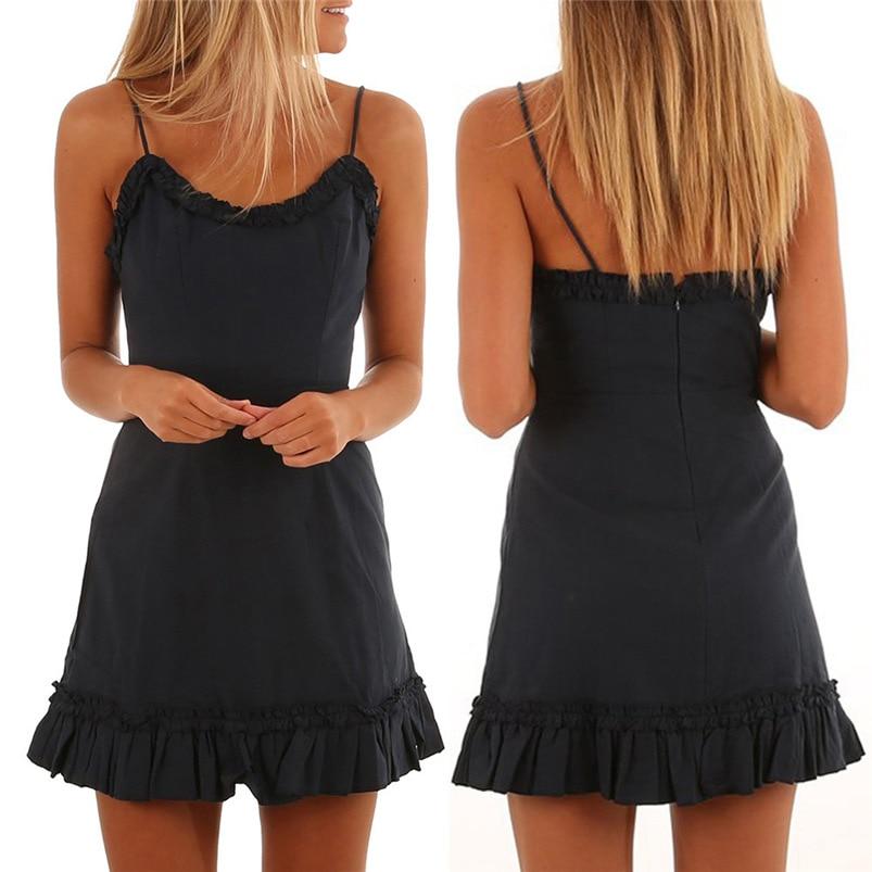 2018 summer dress sexy beach black bandage dress bodycon holiday Backless  mini party dress sleeveless vestidos ... 68aa0b02e2de