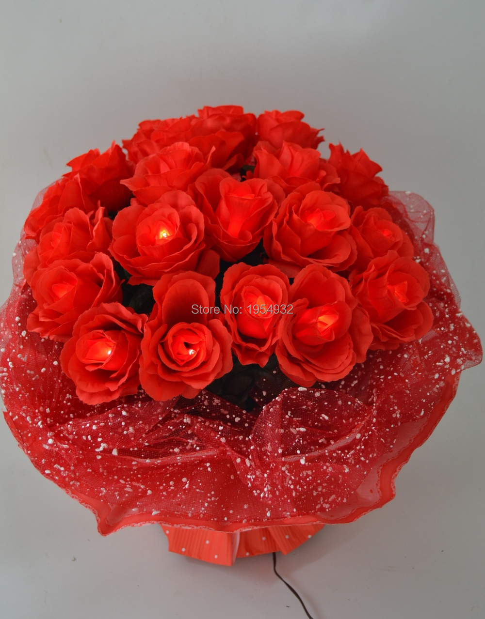 Valentine Gift 3v Dc Adaptor Type Led Rose Flower Bundle In Nice