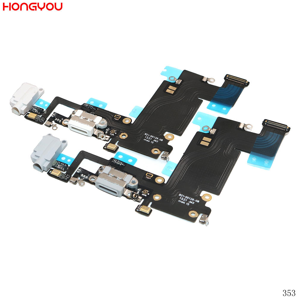 5PCS/Lot For <font><b>6S</b></font> Plus 6SP 5.5inch USB Charge Dock Socket Jack Charging Port Connector Flex Cable With Headphone Audio Jack image