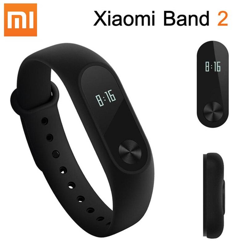 где купить Original Xiaomi Mi Band 2 Smart Bracelet Heart Rate Monitor Xiaomi band 2 Smart Wristband mi band 2 With OLED Screen in Stock по лучшей цене