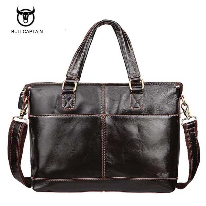 Bullcaptain Genuine Leather Bag Fashion Handbags Cowhide Men Crossbody Bags Men's Travel Bag Tote Ipad Briefcases Men Bags NB025 yishen genuine leather bag men bag cowhide men crossbody bags men s travel shoulder bags tote laptop briefcases handbags bfl 048