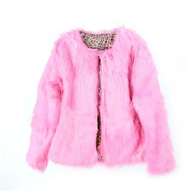 2017 Inverno Nova Moda Das Mulheres Casaco De Pele Grossa Quente O Pescoço Coloridas das senhoras da Pele Do Falso Coats Jacket Streetwear Rosa Plus Size S-XL F2
