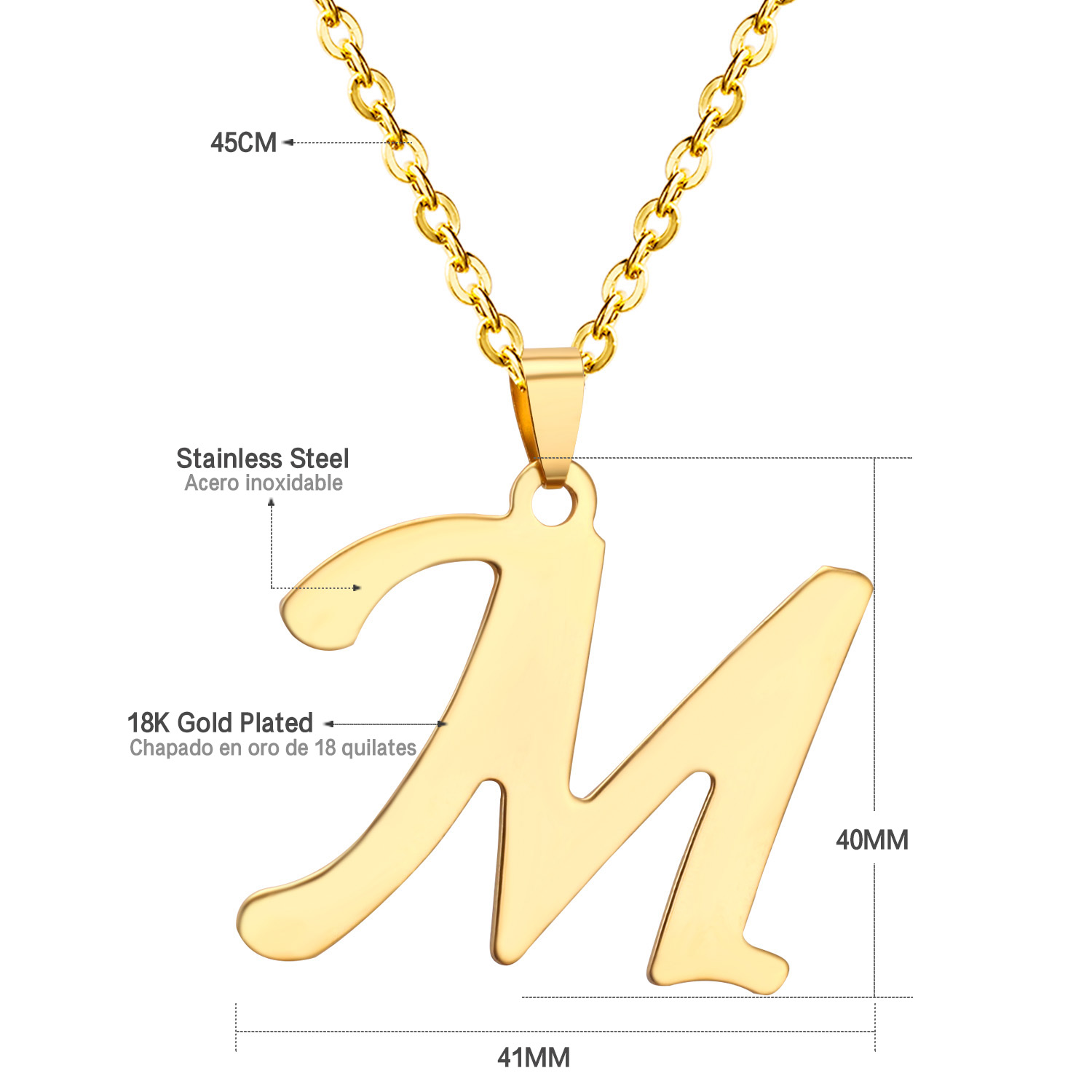 gold mothers custom letters personalized necklace charm pin day letter initial pendant disc solid
