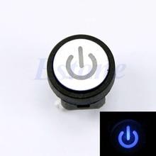 Синий светодиодный светильник символ питания Выключатель без фиксации чехол для компьютера кнопочный переключатель