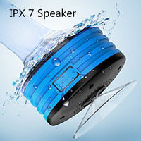IPX7 Waterproof Bluetooth Speaker Portable Bathroom Music Speakers With Suction Cup Wireless Loudspeaker With LED Support Radio