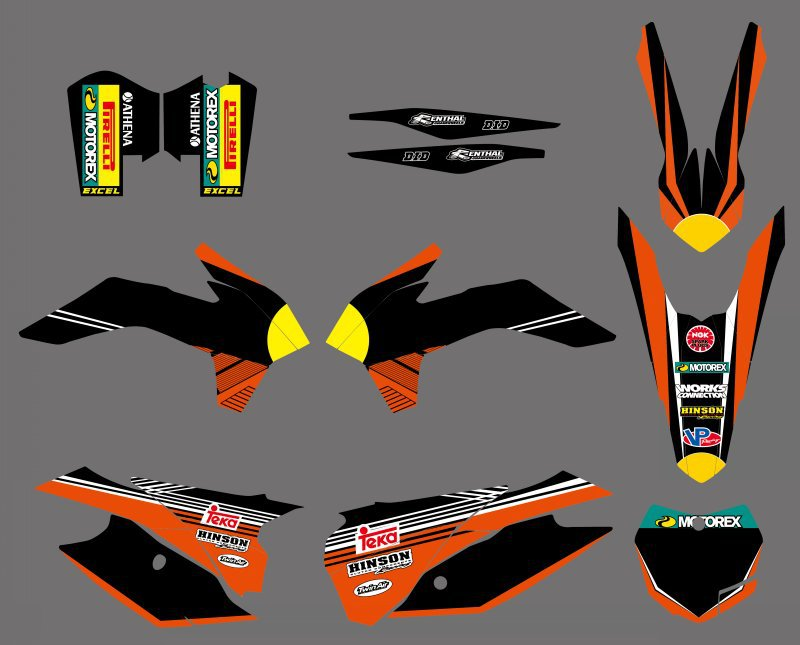 Bull NEW STYLE TEAM GRAPHICS DECALS STICKERS FOR KTM SX SXF XC XCF 125 200 250