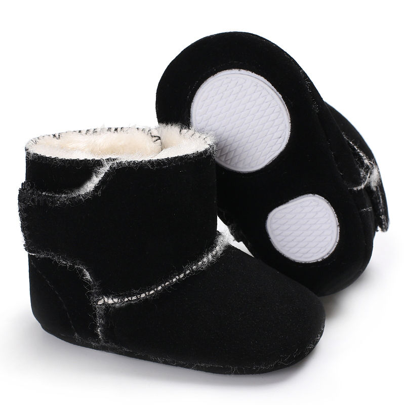 Winter Plus Velvet Warm Baby Boy Booties Soft Soles Plush Toddler Girl Snow Boots Newborn Infant Shoes 0-18M