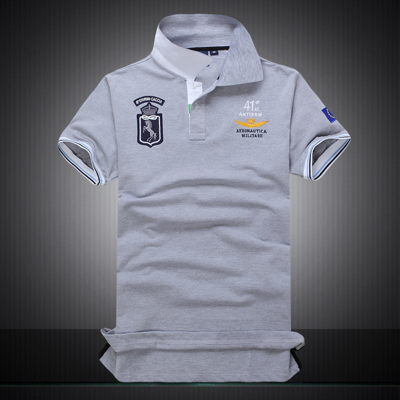 High quality embroidery badge polo shirt men fashion for High quality embroidered polo shirts