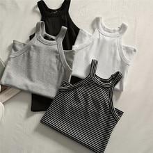 Camisole Tops T-Shirts Tanks Basic Women Summer Tees Neck-Off-Shoulder HALTER Sleeveless