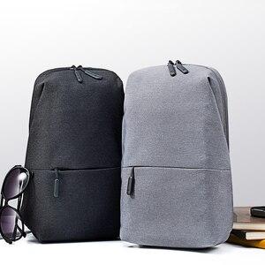 Image 5 - 원래 Xiao mi Mi 배낭 도시 레저 가슴 팩 가방 남성 여성을위한 작은 크기 어깨 유형 남여 배낭 배낭 가방 라