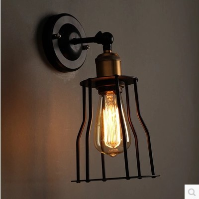 ФОТО 60W Retro Loft Style Edison Vintage Wall Light Industrial Wall Lamp Lights For Home Lighting, Edison Wall Sconce