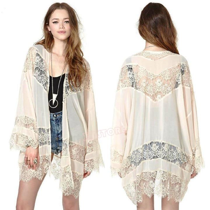 Aliexpress.com : Buy 2015 Summer Women Chiffon Tops Lace Stitching ...