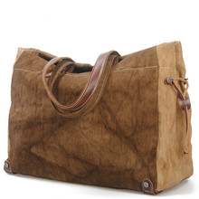Women Linen Shoulder Bag New Fashion Large Capacity Female Brand  Vintage Shoulder Bags Duffle Bag Leisure Handbag Tote