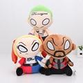 3 шт./компл. Suicide Squad плюшевые игрушки Джокер Харли Квинн Deadshot плюшевые Игрушки Куклы 20 СМ