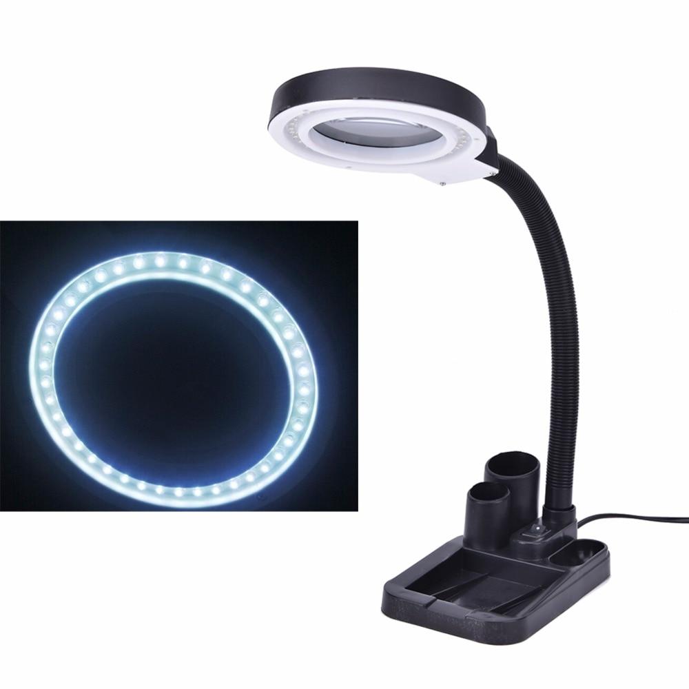 Crafts Glass Lens LED Desk Magnifier Lamp Light 5X 10X ...