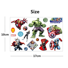 Top Quality Movie Superheros Union Child Flash Tattoo Sticker 17x10cm Waterproof Temporary Tatoo For Kids Captain America