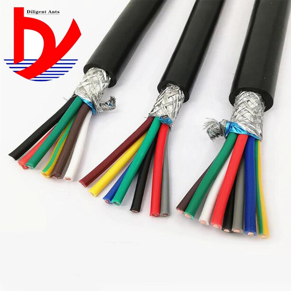 22AWG 0, 3 мм2 многожильный экранированный кабель RVVP 2/3/4/5/6/7/8/10/12/14/16/20/24 кабель для защиты от помех