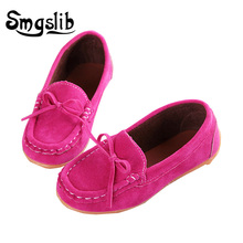 Kids Shoes Boys Girls Leather Suede Fashion Moccasins Boat Children Pu Sneakers For Baby Soft Loafers Shoe