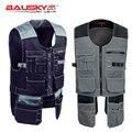 Bauskydd Высококачественная Мужская одежда для уличных работ с несколькими карманами, рабочие жилеты, жилеты для инструментов, бесплатная дост...