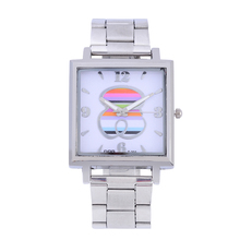 2019 New Women Dress Watches Fashion Square Design Silver Quartz Bear Watch Ladies relojes para hombre relogio feminino