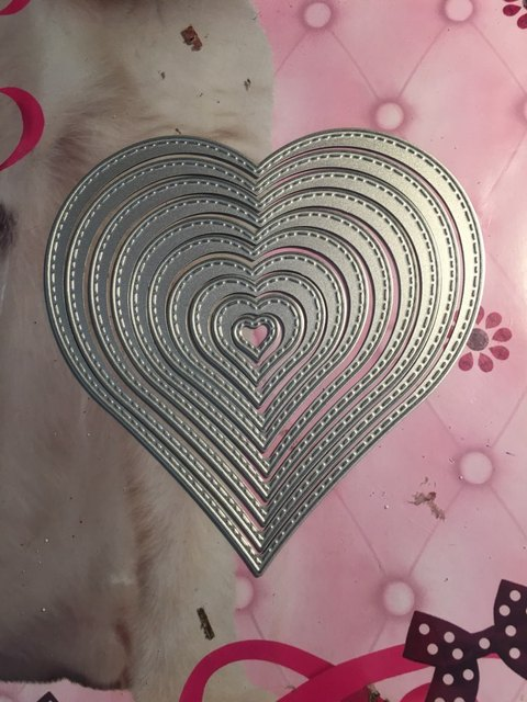 Heart Design Drawing Diy Cutting Dies Embossing Paper Cut Die Card
