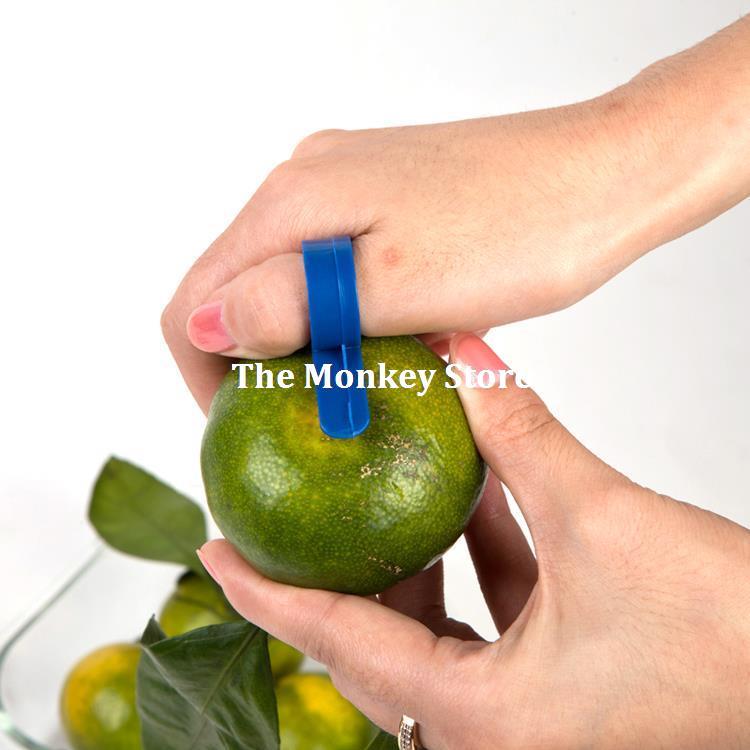 5 Pcs Kitchen Gadgets Finger Peel Orange Stripper Color Random Fruit & Vegetable