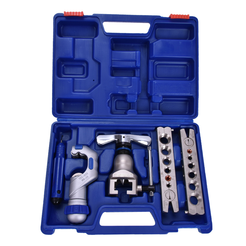 цена на 1set WK-806FT Copper tube flaring cutting tool kit,pipe flaring tool set Cutting knife suit for 5-32MM copper pipe