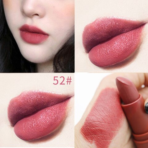 Miss Rose matte lipstick sexy red dark vampire Jujube red lipstick waterpoof long lasting 7 colors 3 8 brown lipstick MS058 in Lipstick from Beauty Health
