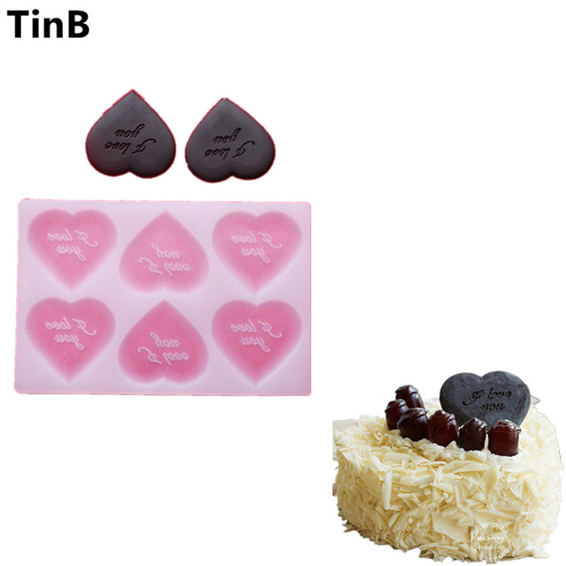 Silicone Heart Chocolate Molds I Love You Valentine S Day Birthday