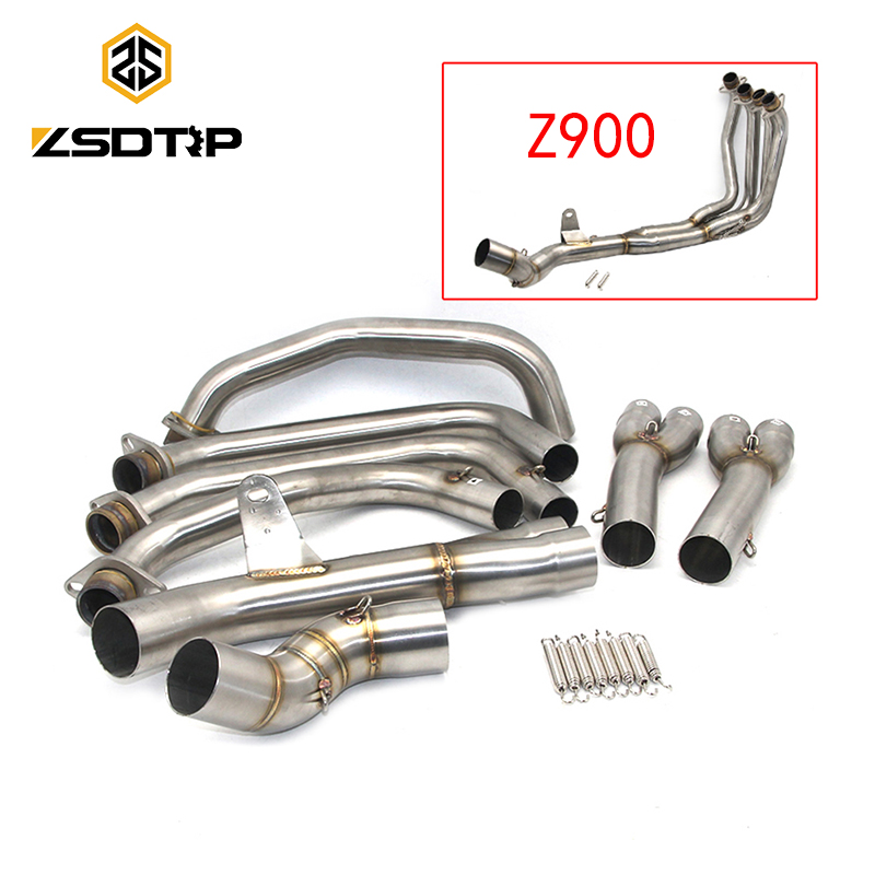 ZSDTRP Z900 Motorcycle full System Exhaust For Kawasaki Z900 2017 2018 Modified Muffler Pipe Exhaust Middle