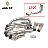 ZSDTRP Z900 Motorcycle full System Exhaust For Kawasaki Z900 2017 2018 Modified Muffler Pipe Exhaust Middle Pipe