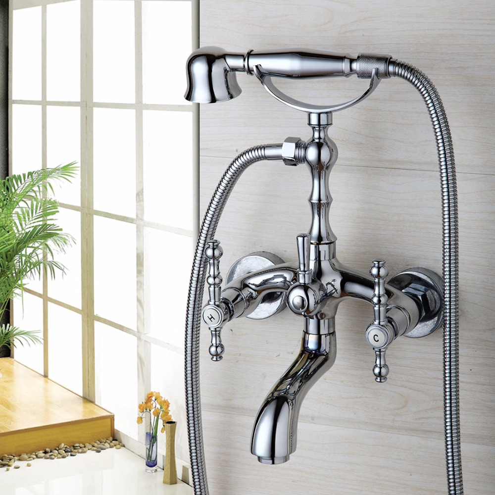 Modern 10 inch Bathroom Square Rain Shower Head Wall Mounted Mixer Chrome Finish Sprayer Tap kemaidi new modern wall mount shower faucet mixer tap w rain shower head