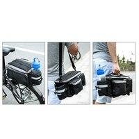 Multifunción 6L Bicicleta de Ciclo Al Aire Libre de Viaje Bolsa de Deporte Bolsas de Bastidor Del Asiento Posterior de la Bici