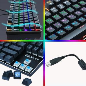 Image 5 - Teclado mecánico para videojuegos, con cable usb, retroiluminado, Anti ghosting, 87 teclas, RGB, azul, rojo, teclado para ordenador de mesa y portátil