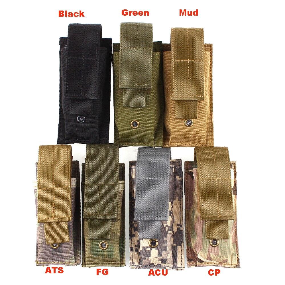 Hot Sale szabadtéri túrázás kemping Molle Tactical MOLLE PALS Dump Rádió Pouch Zseblámpa táska Kis Mini Belt Pack Interphone tok