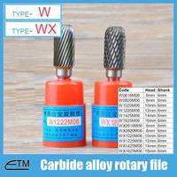 1 Piece Tungsten Carbide Alloy Rotary File Milling Cutter Drill Bit For Carving Sculpture Type W
