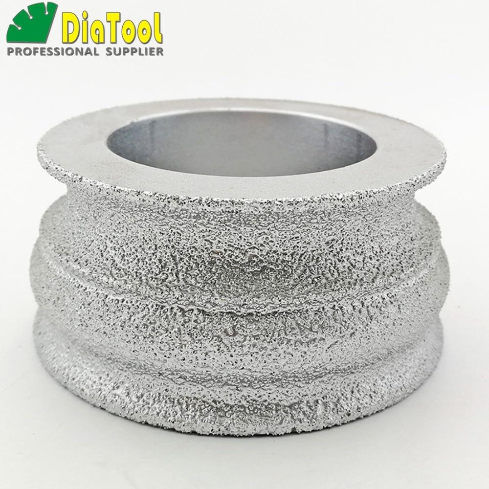 цена на DIATOOL 75mmx35MM Vacuum Brazed Diamond grinding wheel for marble granite and quartz Hand Profile wheel for angle grinder