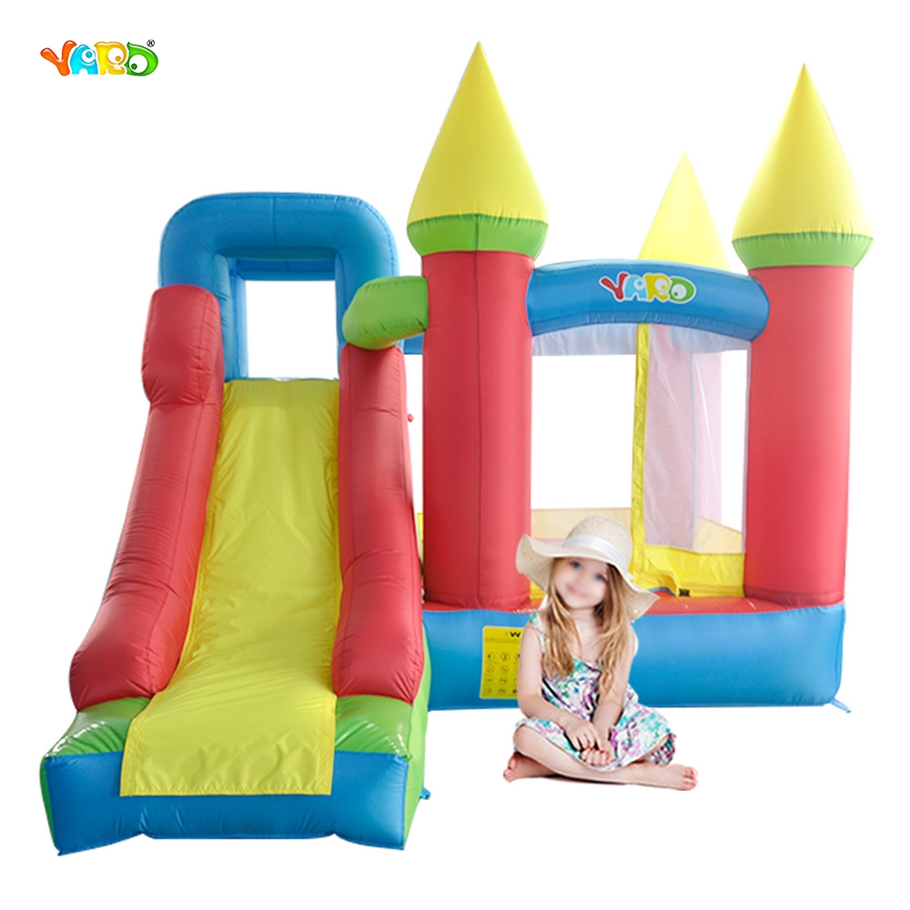 YARD Inflatable Castle for Kids Birthday Party Mini Bounce House with Slide Indoor Outdoor Playing Trampoline 6210